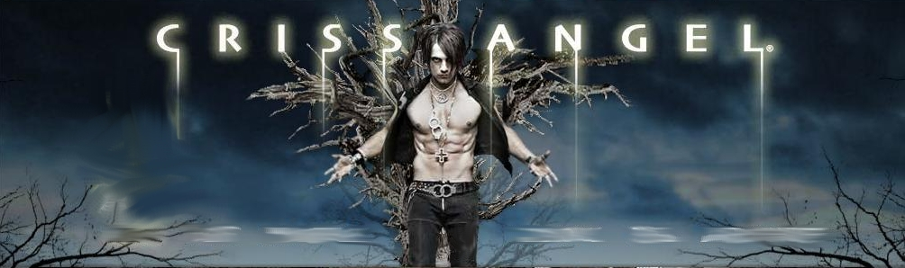 Homepage of Criss Angel